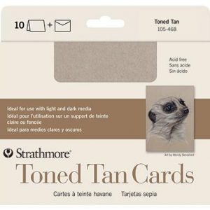Strathmore Toned Tan cards 10 pack