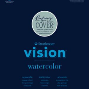 Strathmore Vision Watercolor Pads 30 Sheets