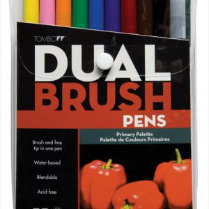 Tombow Dual brush pens 10 primary color set
