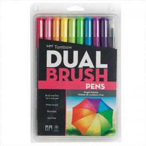 Tombow Dual brush pen bright set of 10 pack