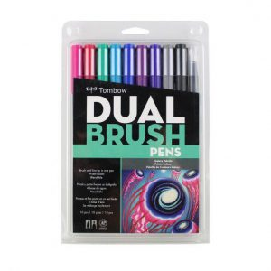 Tombow dual brush pens galaxy set 10 pack