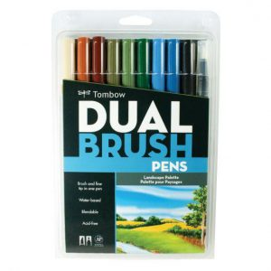 Tombow Dual brush pens lanscape set 10 pack