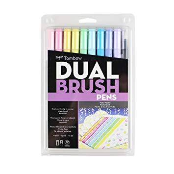 Tombow Dual Brush Pens pastel set of 10 pack