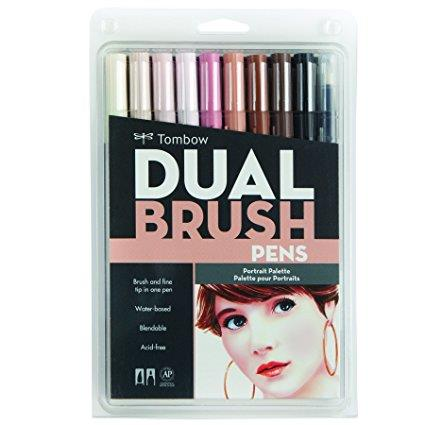 Tombow Dual Brush Pens portrait set 10 pack