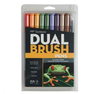 Tombow Dual Brush Pens secondary palette 10 pack