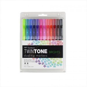 Tombow Markers Twin tone brights set of 12