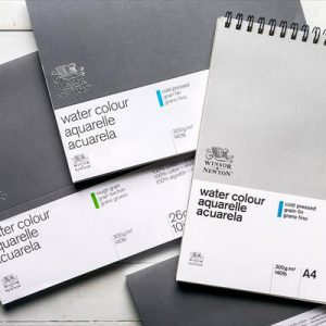 Winsor and Newton professional cold pressed watercolor paper 12 sheets