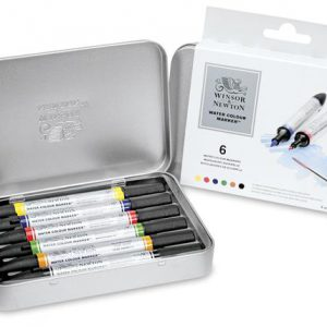 Winsor and Newton Watercolour marker set 6 pack
