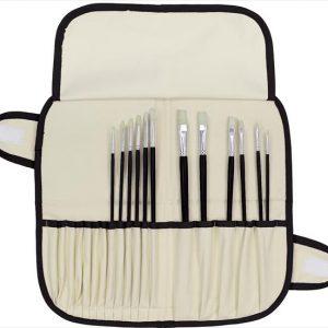 Art advantage hog bristle brush set 12 pack