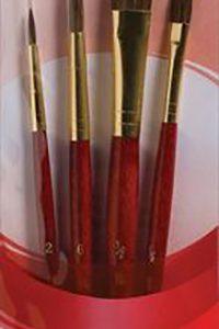 Camel set of 4 princeton brush set