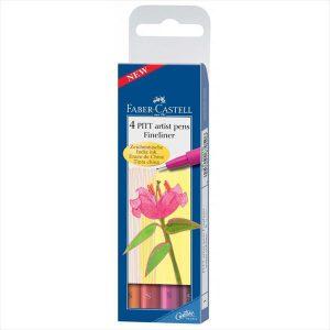 Faber Castell PITT Artist Pens - Warm Colours (4 Pack)