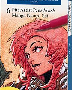 Faber-Castell Pitt Artist pens 6 pack - manga kaoiro set