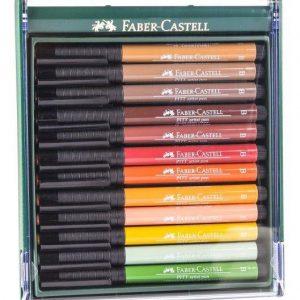 Faber-Castell Pitt Artist Pens Earth Tones 12 Pack