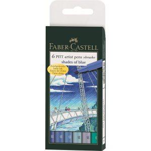 Faber-Castell Pitt Artist Pens Brush 6 pack