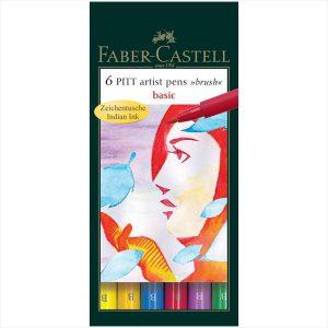 Faber-Castll Pitt artist pens - basic 6 pack