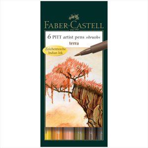Faber-Castell Pitt Artist Pens Terra