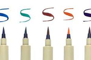 Micron Pigment Liner Brush pens