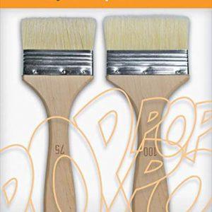 Pebeo pop art 2 white bristle spalters 75, 100