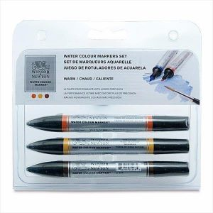 Winsor and Newton Watercolour markers warm set 3 pack