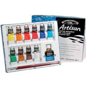 Winsor Newton Artisan Water Mixable Oil paint studio set