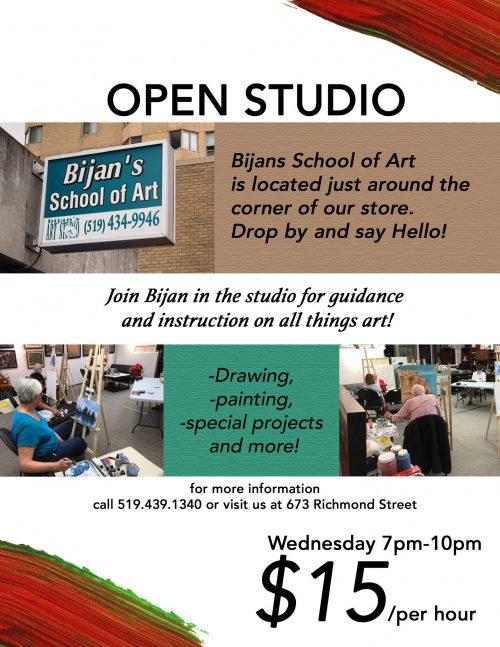Bijans School of Art Flyer